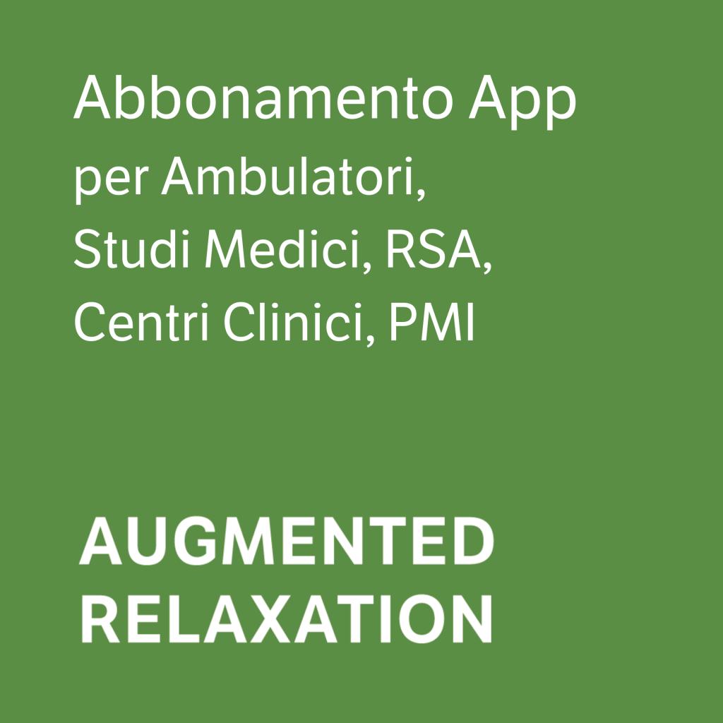 Augmented Relaxation Corner - Ambulatori, Studi Medici, RSA, Centri Clinici, PMI